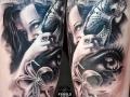 Mujer antifaz by Family Ink tattoo