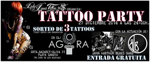 Lady Lenna Tattoo, regalará 3 Tatuajes en su Tattoo Party.