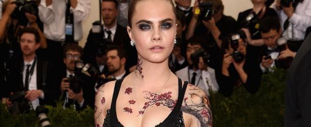 Tatuajes Temporales de Cara Delevigne